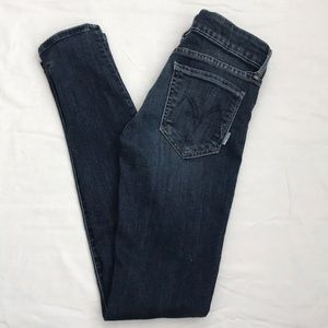 MOTHER The Looker Skinny Mid Rise Here Kitty Sz 26